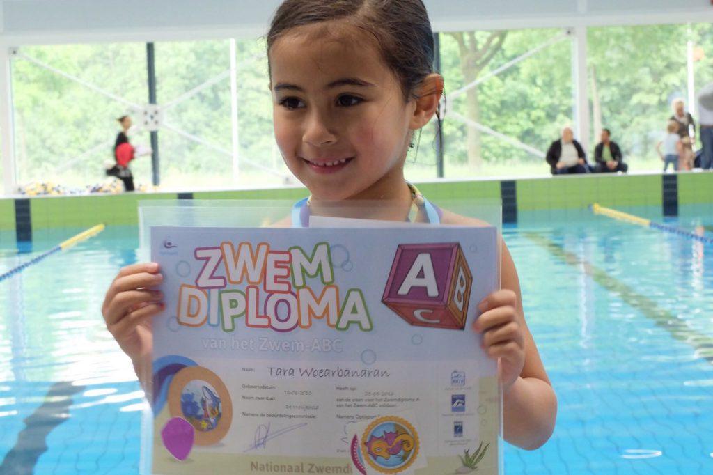 Zwemdiploma A gehaald!